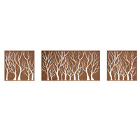 Forrest Box Metal Garden Wall Art