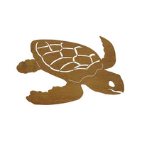 Turtle Outdoor Metal Wall Sculpture