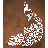 Peacock Outdoor Wall Sculpture Panel