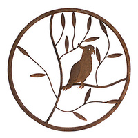 Cockatoo Round Metal Wall Art