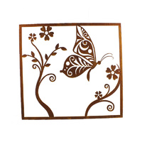 Butterfly Outdoor Garden Metal Wall Art