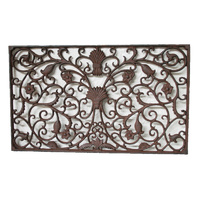 Cast Iron Door Mat Floral Grande