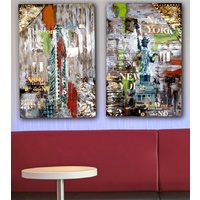 Aluminium Painting Wall Art - New York Lights