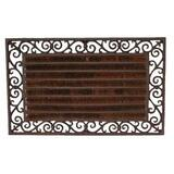 Cast Iron Door Mat with Coir