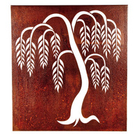 Outdoor Wall Sculpture - Weeping Willow