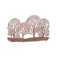 Outdoor Wall Sculpture - Winter Trees