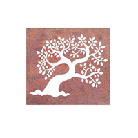 Laser Cut Wall Art - Leaf Tree Box