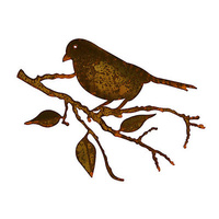 Outdoor Wall Sculpture - Robin