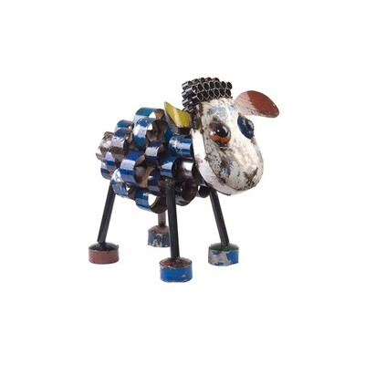 EE I EE I O Metal Animals - Sid the Sheep Outdoor Art Garden Sculpture