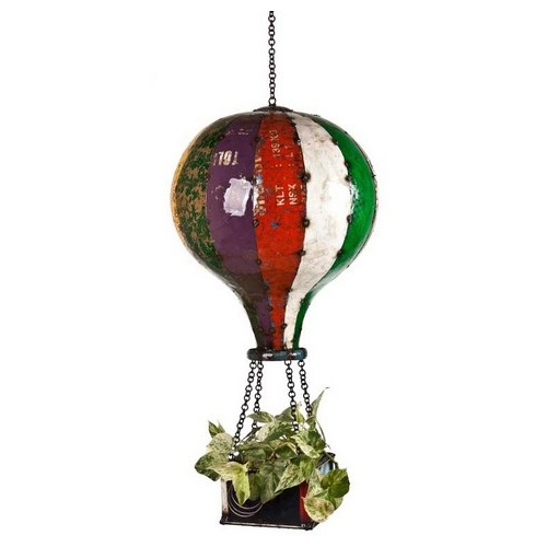 Eeieeio Hot Air Balloon Hanging Planter Small