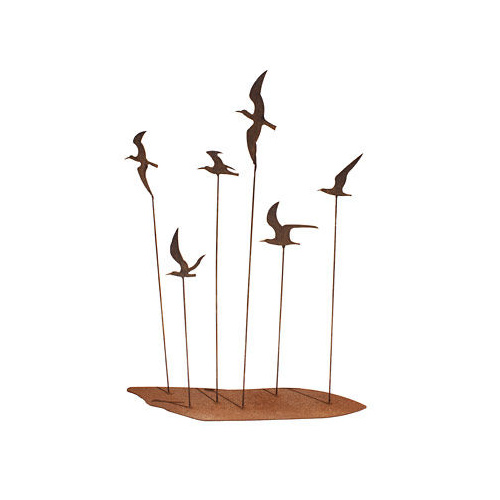 Seagull Flock Metal Garden Art
