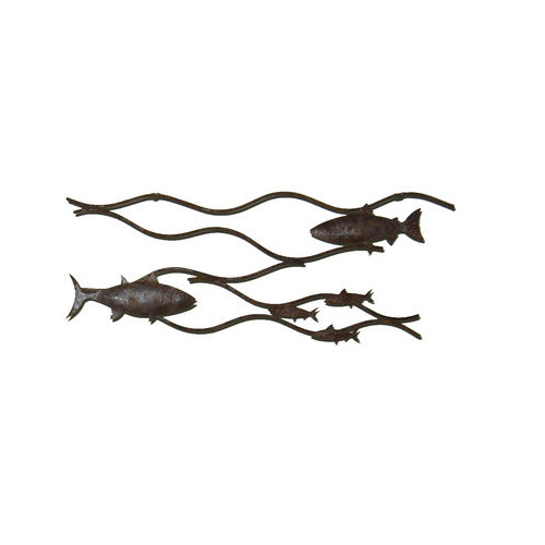 Fish Swimming Metal Wall Art
