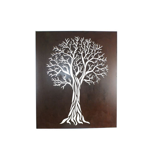 Laser Cut Wall Art Flame Tree
