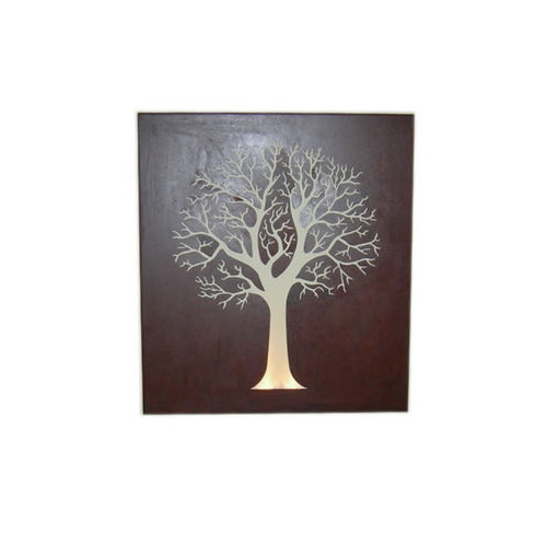 Mild Steel Wall Art - Round Tree Box