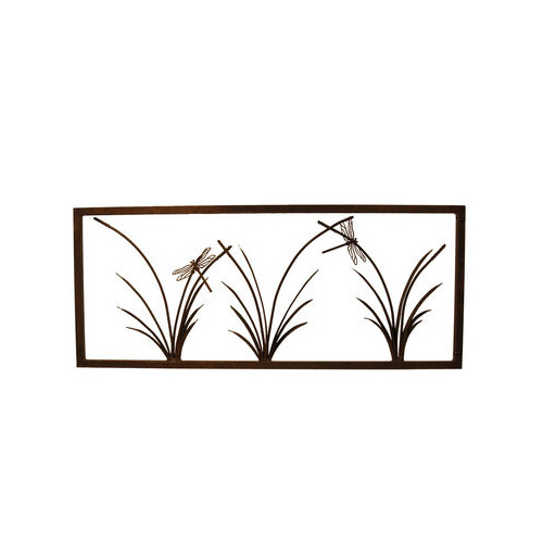 3 Reed & Dragonfly Garden Metal Wall Art Small