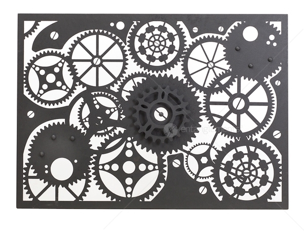 Outdoor Laser Cut Wall Art Clockwork