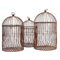 Metal Ornamental Hanging Birdcages Set 3