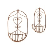 Metal Tracey Wall Basket Planter Set 2