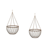 Metal Hanging Basket Large Set 2
