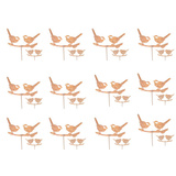 Australian Wren Bird Set of 12 Garden Stakes
