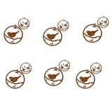 Single Bird Wren Metal Garden Hanging Set 12