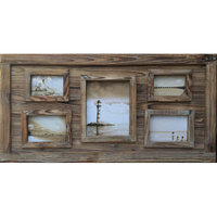 Wooden Edge 5 Multi Picture Frame Wall Decor