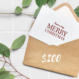 $200 Merry Christmas E-Gift Card