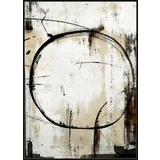 Circle Impression Abstract Canvas Wall Art