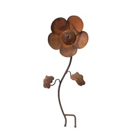 Rusty Maisy the Daisy Metal Flower Garden Stake