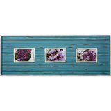 Vintage Strip Blue 3 Multi Photo Frame