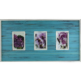 Bright Blue 3 Multi Photo Frame