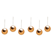 Set 6 Rusted Ball Hanging Garden Art Medium