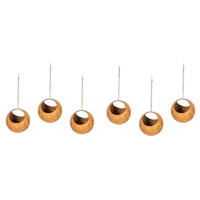 Set 8 Rusted Ball Hanging Garden Art Small