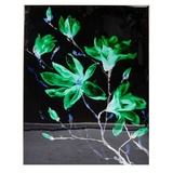 Green Magnolia Gloss Framed Painting