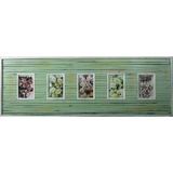 Vintage Strip Green 5 Multi Photo Frame