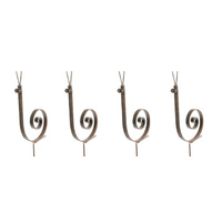 Set 4 Metal Rust Snail Garden Art Stakes