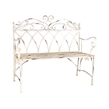Martinique Metal Wood Garden Bench Seat