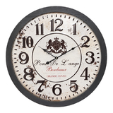 XL French Pont de Lange Wood Wall Clock