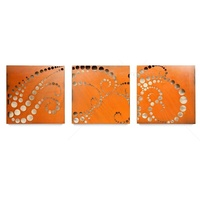Outdoor Triptych Wall Art - Bubble Wave