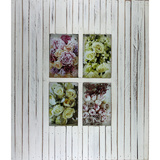 Vintage Strip White 4 Multi Photo Frame