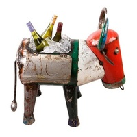 EEIEEIO Metal Animals - Bruce the Bull Drink Esky Cooler Outdoor Tin Metal Garden Sculpture Art