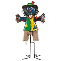 Boo the Scarecrow Metal Garden Decor