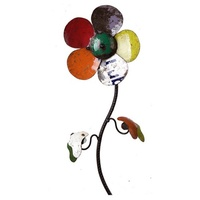 EE I EE I O Garden Sculpture  Maisy the Daisy Colourful Metal Flower Stake