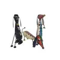 EEIEEIO Dachshund Trio Outdoor Recycled Outdoor Art