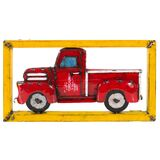 EEIEEIO 1950's Pick Up Truck Metal Wall Art Panel