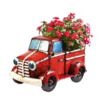 EEIEEIO Mini Pick up Truck Cooler Planter Outdoor Sculpture
