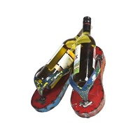EEIEEIO Flip Flop Wine Holder Outdoor Wall Art
