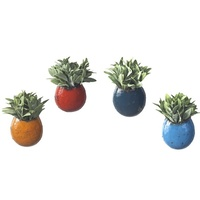EEIEEIO Outdoor Decorative Garden Wall Pots Set 4