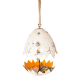 EEIEEIO The Broken Egg Bird Feeder Garden Ornament