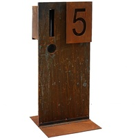 Numbered Steel Outdoor Letterbox